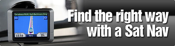 Find the right way in a Sixt car rental with Sat Nav