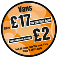 Van Hire Hourly Special Deal