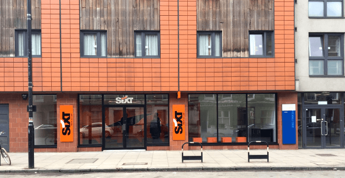 Sixt's branch at London Caledonian Road Station