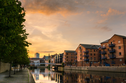 Leeds warehouses along the canal