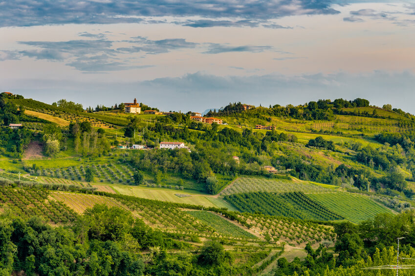 Beautiful Emilia-Romagna countryside