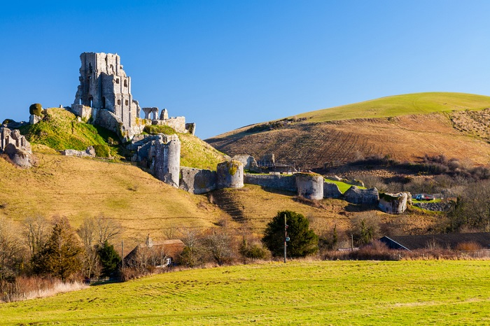 Corfe Castle near Bournemouth