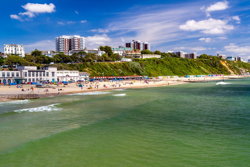 View across the beach in Bournemouth