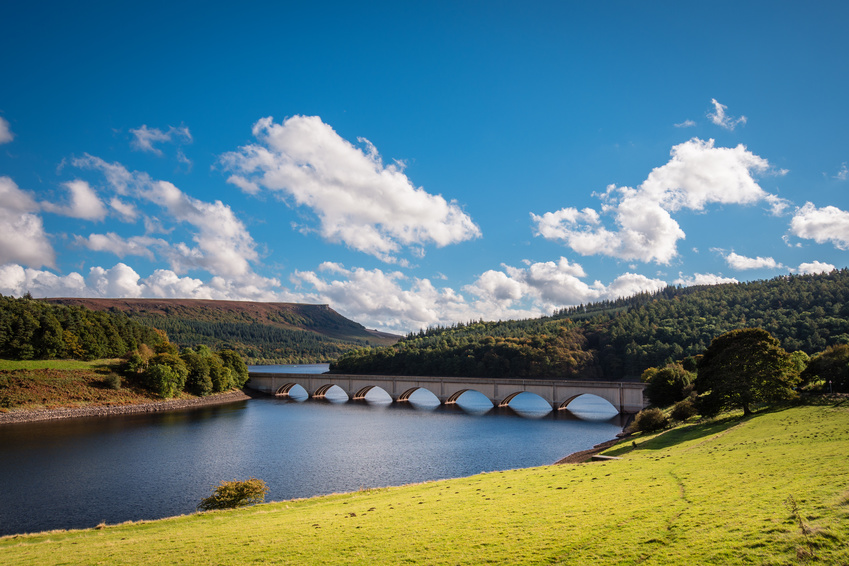 View across Ladybower reservoir, Derbyshire