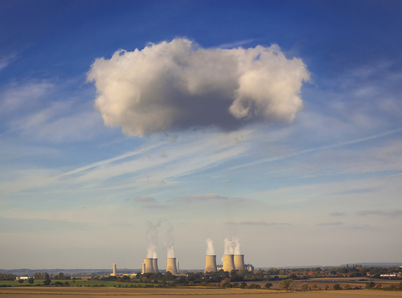 Didcot power station with clouds