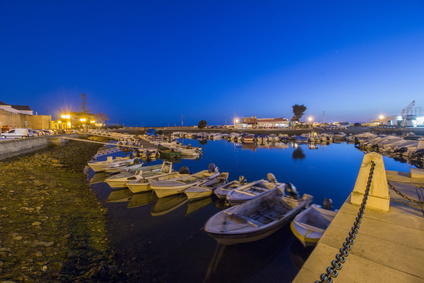 Boats in the port at Faro