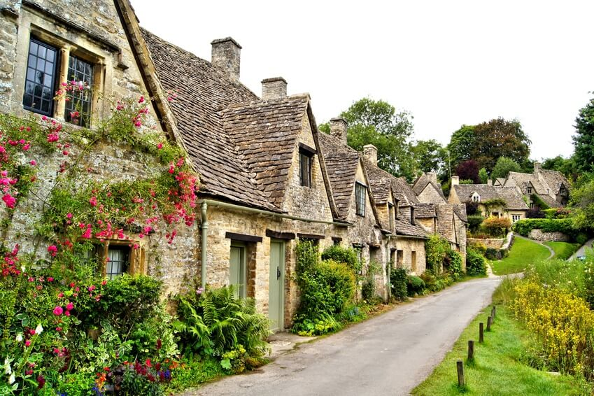 Arlington Row in Bibury, near Gloucester