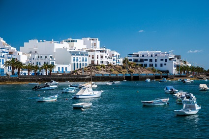 Boats on the water in Lanzarote