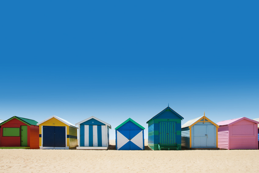 Beach huts at Brighton Beach, Melbourne