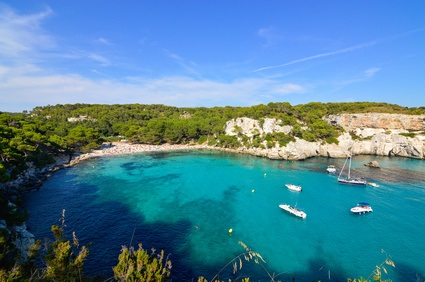 Blue lagoon in Menorca