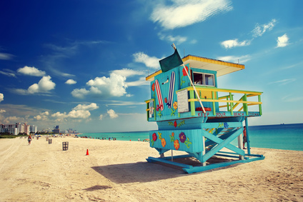 Miami beach in daytime