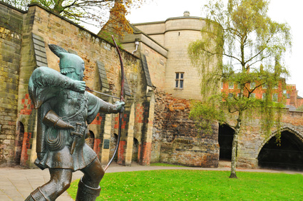 Statue of Robin Hood by Nottingham Castle