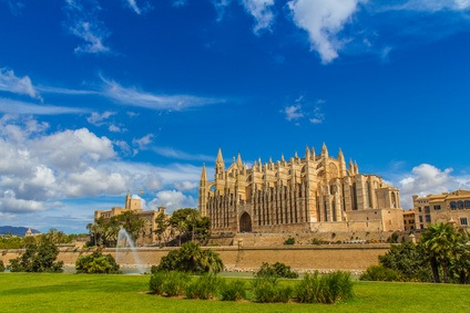 Beautiful old church in Palma de Mallorca