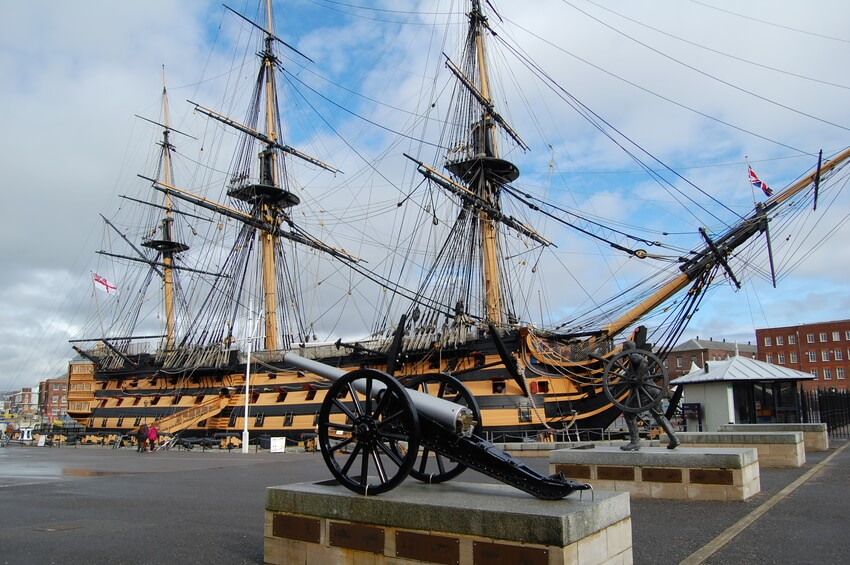 HMS Victory docked in Portsmouth
