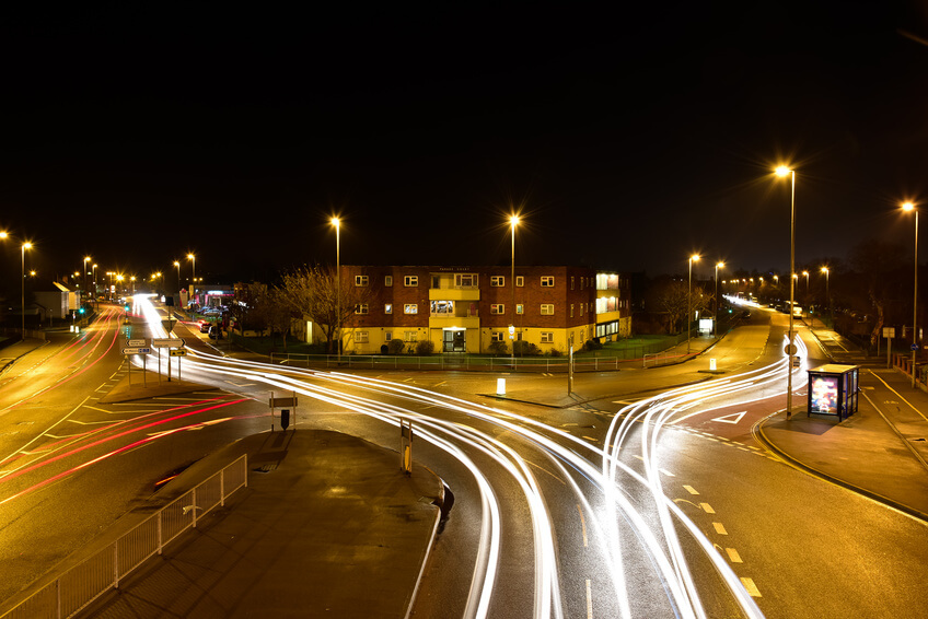 Light trails in Portsmouth