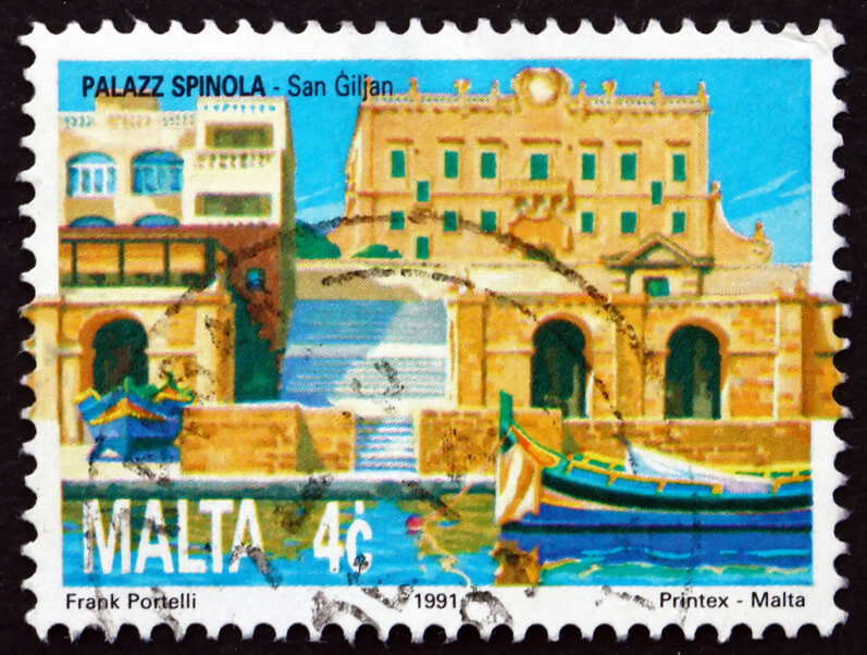 Postage stamp from St Julians, Malta