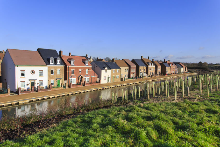 Canalside houses