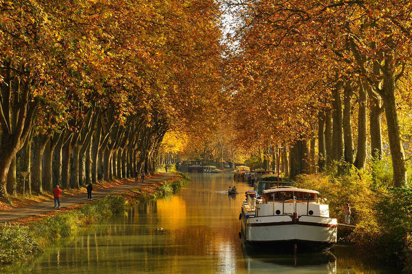 Toulouse canal in Autumn