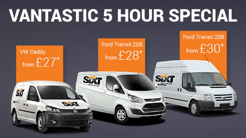 5 hour van hire deals in Birmingham