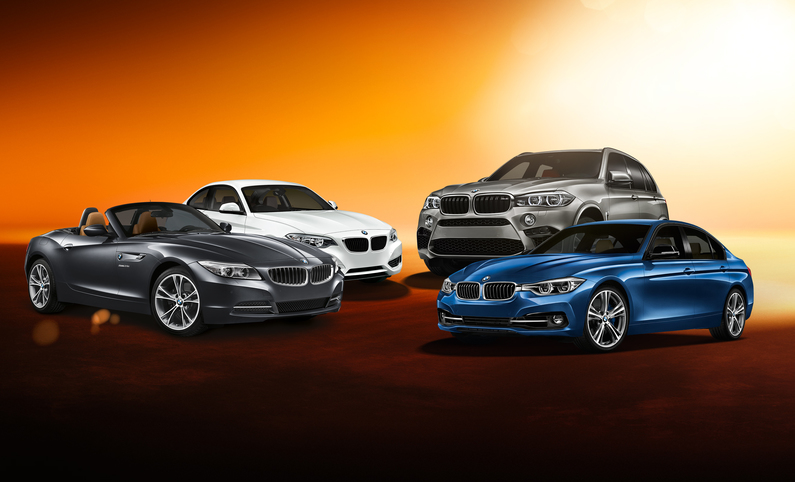 Sixt BMW car hire fleet at London Wembley