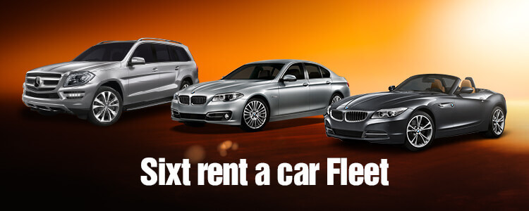 Sixt Car Hire categories in the UK