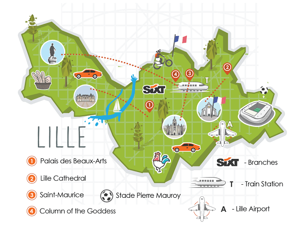 Lille City Map - Euros 2016