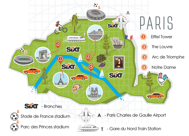 Paris car hire sixt rent a car for Porte w orly