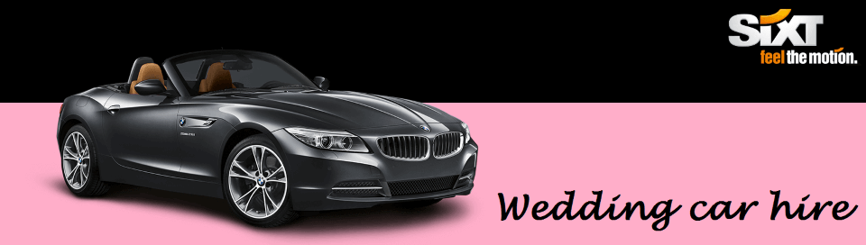 Sixt rent a car offers affordable luxury weddings cars