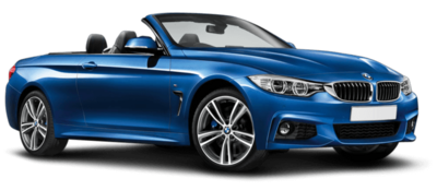 Blue BMW 4 Series Convertible