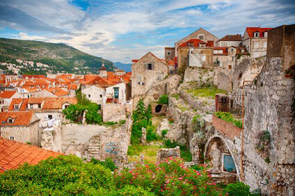Dubrovnik's city wall and centuries-old houses
