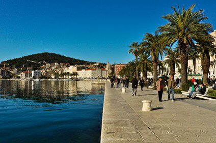Riva promenade in Split