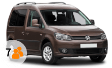 VW Caddy Minibus Rental with Sixt